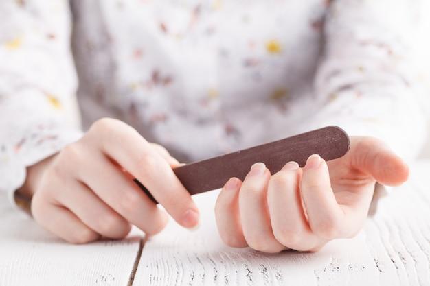 Handfeilen nägel mit nagelfeile