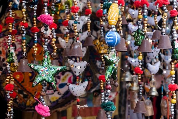 Handgefertigte wohnaccessoires arambol markt goa indien