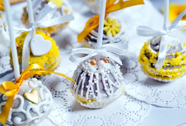 Handgemachte cake pops