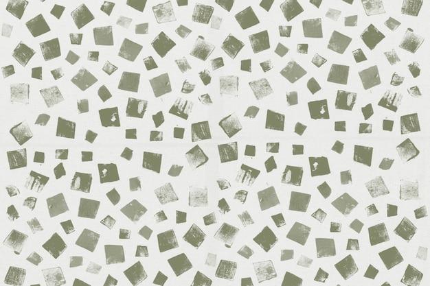 Handgemachte drucke des grünen quadratischen musterhintergrundes