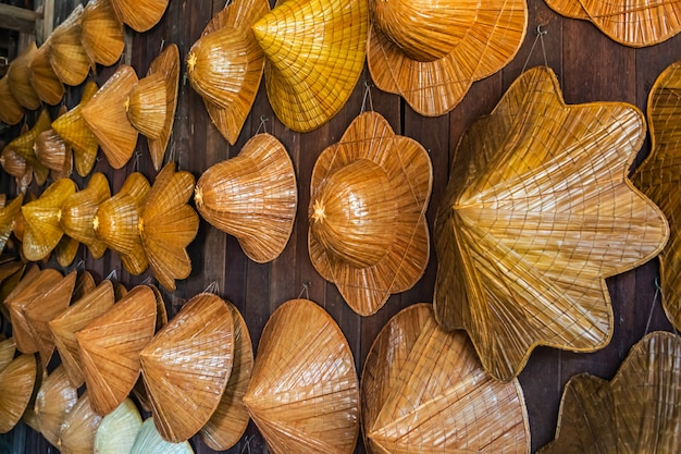 Handgemachte korbweide aus bambus