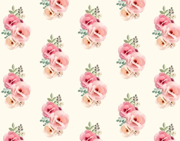 Handgemachte sammlung des rosenpapierhandwerks