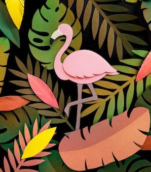 Handgemachte sammlung des tropischen botanischen papierhandwerks