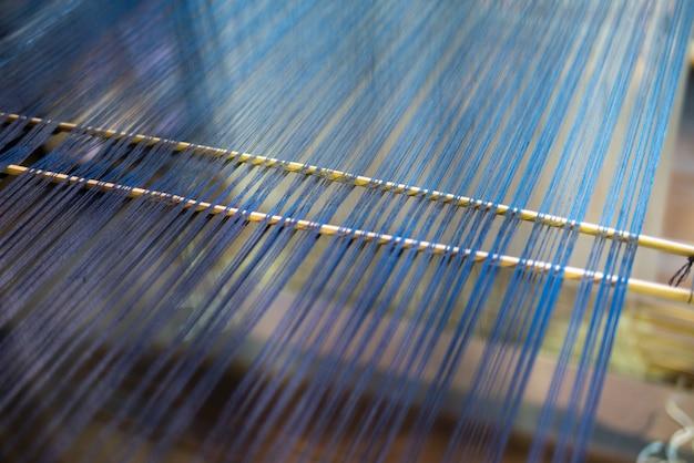 Handgemachter gesponnener abstrakter gewebebeschaffenheitshintergrund des gewebes als kunstdesign