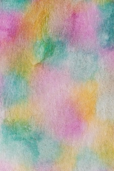 Handgemachter technikaquarell des abstrakten regenbogens