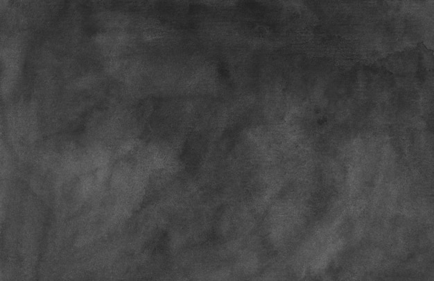 Handgemalte hintergrundtextur des aquarells schwarz und grau. aquarell abstrakte alte monochrome überlagerung. tintenflecken auf papier.