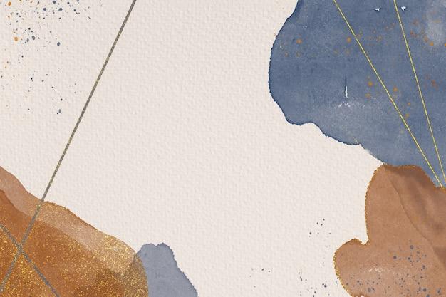 Handgemalter abstrakter hintergrund von aquarellen auf papierstruktur