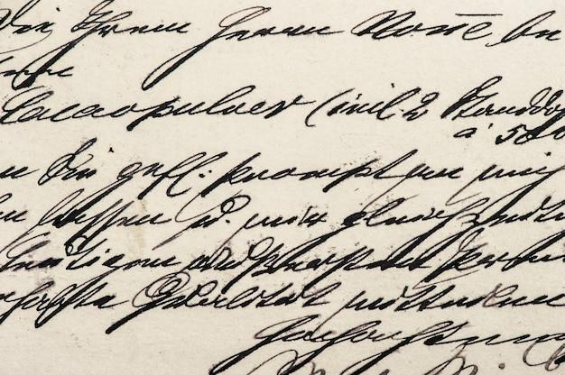 Handgeschriebener kalligraphischer text. vintage-textur-hintergrund. digitales papier