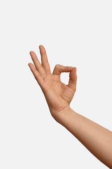 Handgeste in gebärdensprache