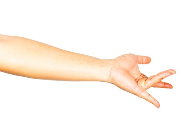 Handgesten, die sexuelle stimulation zeigen.