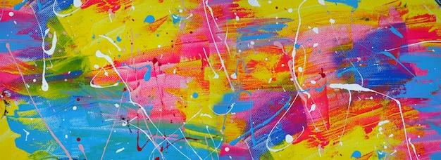 Handgezeichnete bunte malerei abstrakte kunst panorama hintergrundfarben textur design illustration