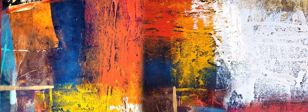 Handgezeichnete malerei abstrakte kunst panorama hintergrundfarben textur design illustration