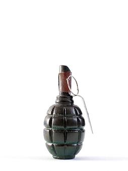 Handgranate mächtige massenvernichtungswaffe mit braunem hebel