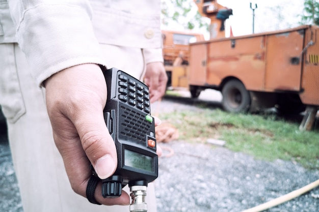 Handheld walkie-talkie, radio kommunizieren