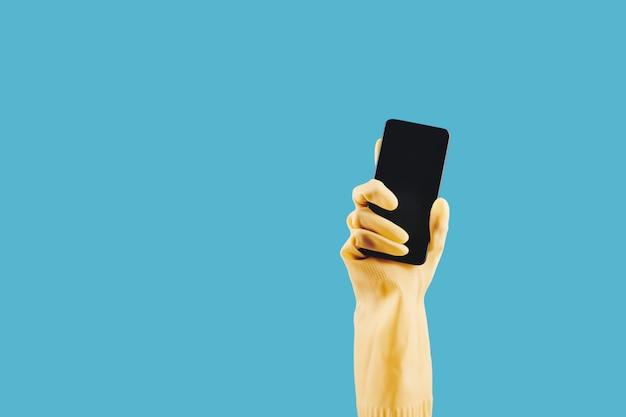 Handschuh mit smartphone