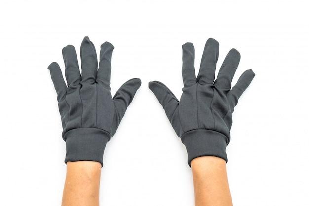 Handschuhe auf weißem hintergrund