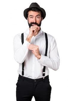 Handsome hipster mann mit bart