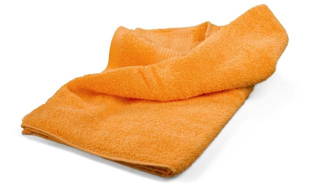 Handtuch isoliert auf weißem hintergrund