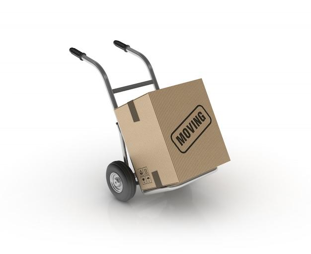 Handwagen mit beweglichem etikett