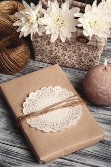Handwerk handgemachtes geschenk-notizbuch