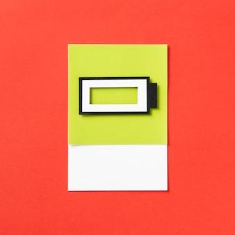 Handwerkskunst des papiers 3d einer aufladenden batterie