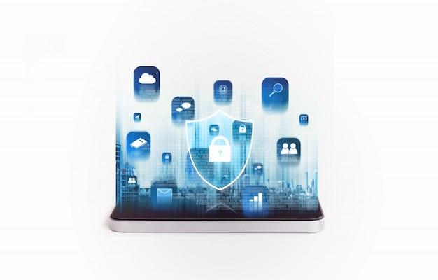 Handy-sicherheit und digitales datensicherheitssystem