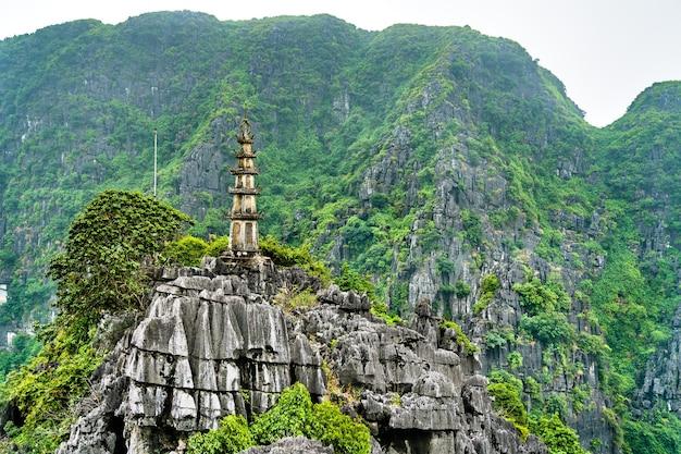 Hang mua aussichtspunkt in trang eine malerische gegend in der nähe von ninh binh, vietnam