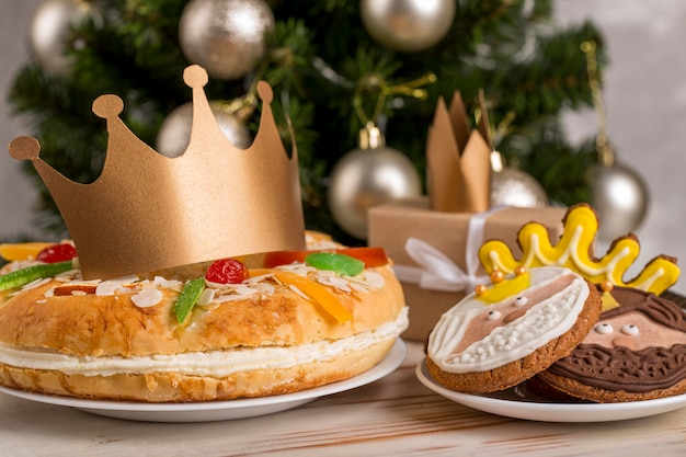 Happy epiphany leckeren kuchen