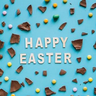 Happy ester schreibt unter süßigkeiten
