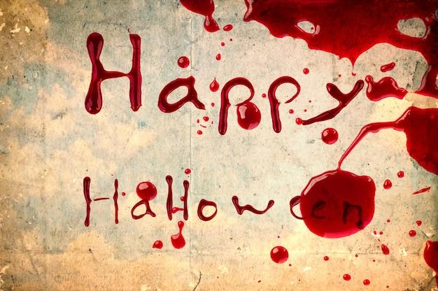 Happy halloween auf vintage-papier