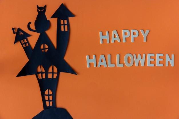 Happy halloween mit spukhaus burg