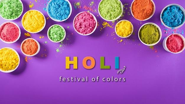 Happy holi festival dekoration