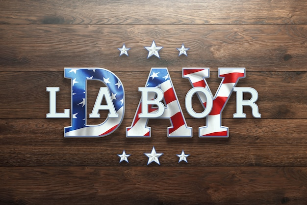 Happy labor day-banner.
