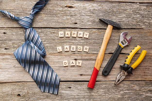 Happy labour day grußkarte oder hintergrund. tag der arbeit in den usa.