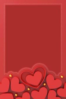 Happy valentinstag konzept. herzform geschenkbox auf rotem hintergrund.
