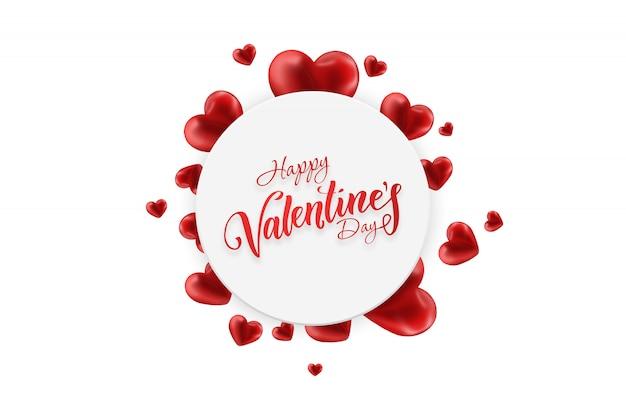 Happy valentinstag web-banner. flyer, postkarte, illustration.