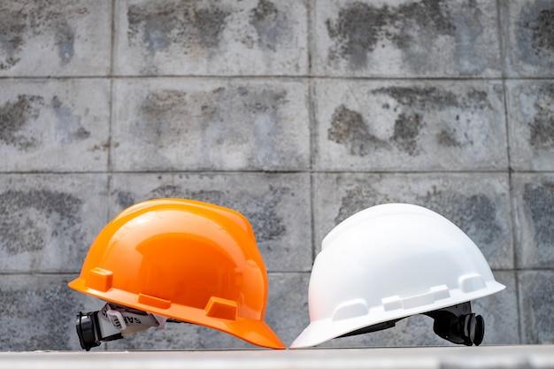 Harter schutzhelmhut für sicherheitsprojekt, psa für arbeitssicherheit