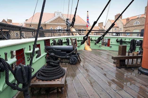 Hartlepool, großbritannien - 27. juli 2021: das national museum of the royal navy im norden englands. das nationalmuseum von hartlepool
