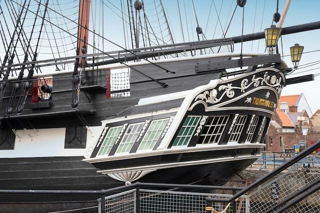 Hartlepool, großbritannien - 27. juli 2021: das nationalmuseum der royal navy im norden englands. großes königliches kriegsschiff