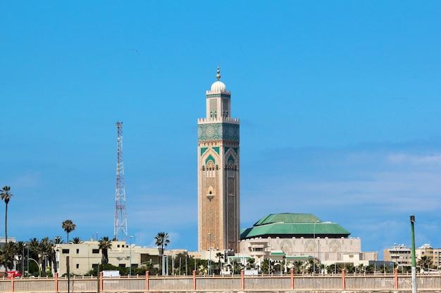 Hassan ii moschee. große moschee hassan ii in casablanca, marokko