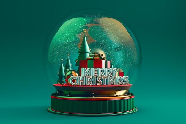 Haube mit weihnachtsdarstellung mit grün