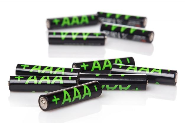 Haufen aaa-batterien