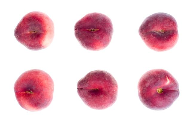 Haufen des süßen paraguaya-pfirsichhintergrundes