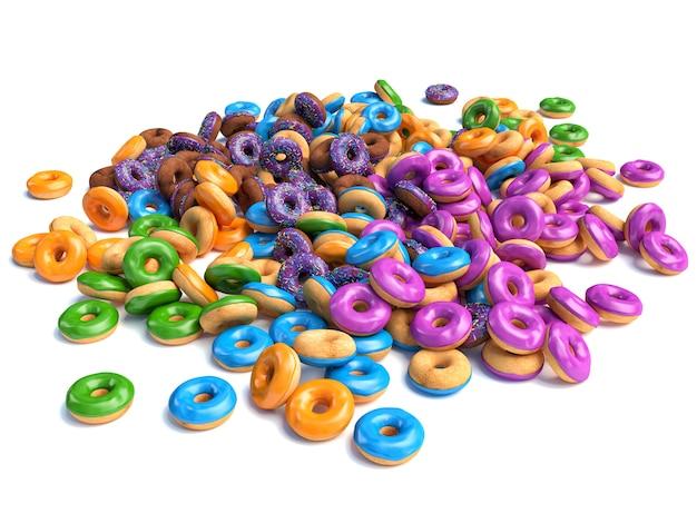Haufen donuts