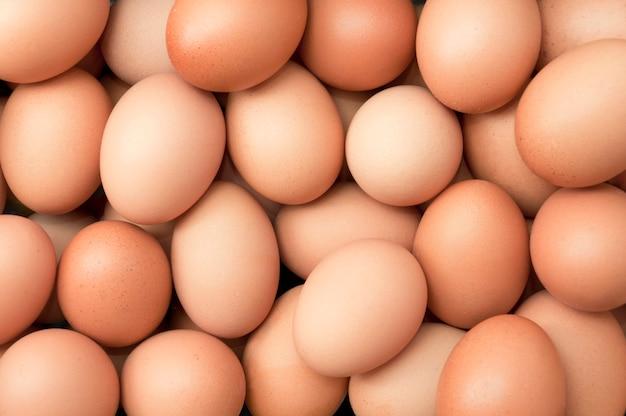 Haufen frischer eier