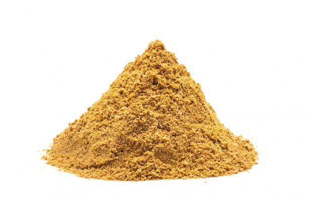 Haufen gemahlenes curry