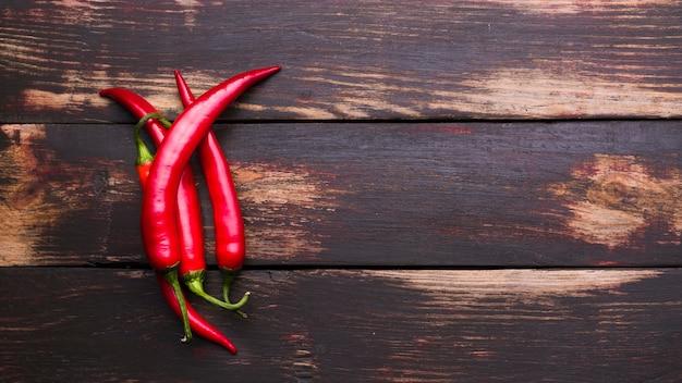 Haufen heißer chili