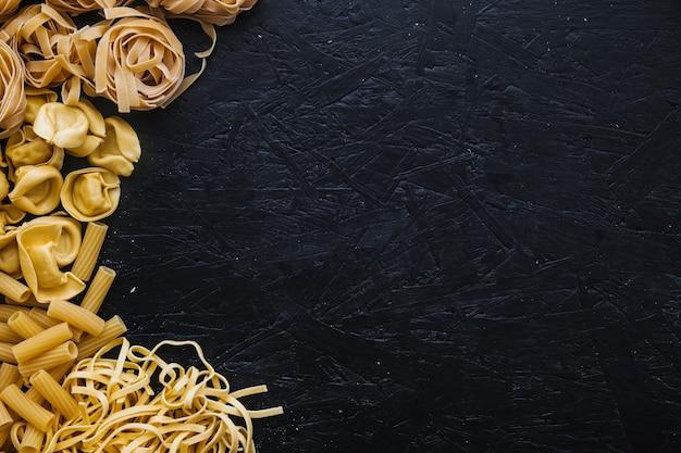Haufen verschiedene pasta