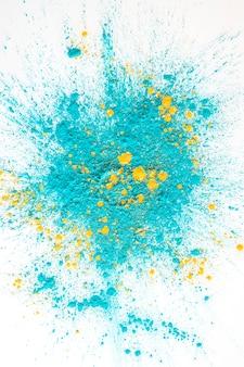 Haufen von aquamarine und gelben hellen trockenen farben