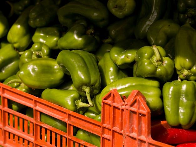 Haufen von paprika